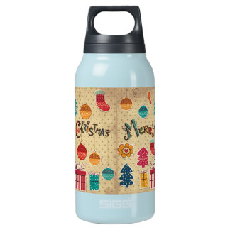 Merry Christmas Holiday Insulated Water Bottle