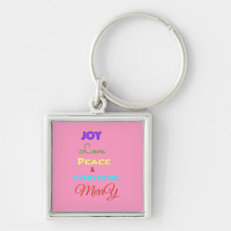 Merry Christmas Holiday Keychains-Stocking Stuffer Keychain
