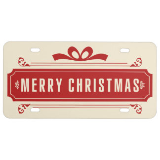 Merry Christmas Holiday License Plate