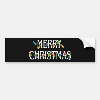 Merry Christmas Holiday Lights Bumper Sticker