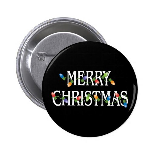 Merry Christmas Holiday Lights Buttons