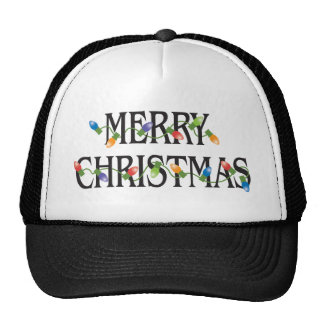 Merry Christmas Holiday Lights Hat