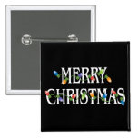 Merry Christmas Holiday Lights Pin