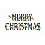 Merry Christmas Holiday Lights Post Card
