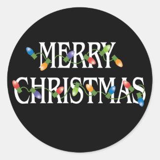 Merry Christmas Holiday Lights Sticker