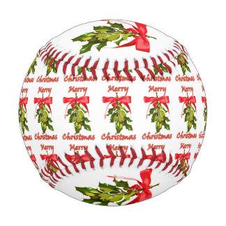 merry christmas holiday mistletoe baseball