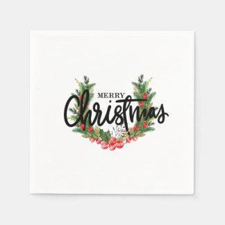 Merry Christmas, Holiday Napkins