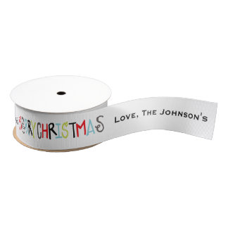 Merry Christmas | Holiday Personalized Ribbon