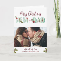 merry christmas holiday photo card mum dad