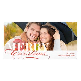 Merry Christmas Holiday Photo Card Customized Photo Card