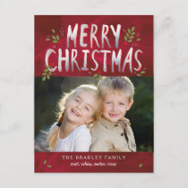 Merry Christmas Holiday Photo Card Postcard