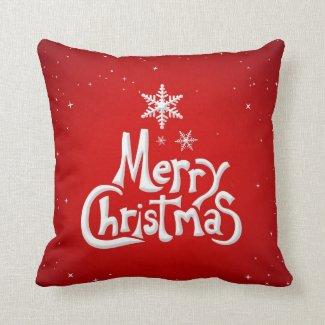 Merry Christmas Holiday pillow