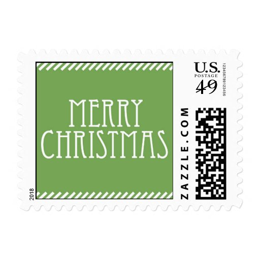 Merry Christmas Holiday Postage