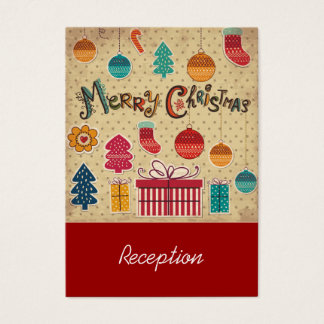 Merry Christmas Holiday Reception Card