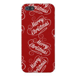 Merry Christmas Holiday Red Seasonal Design iPhone 5 Case