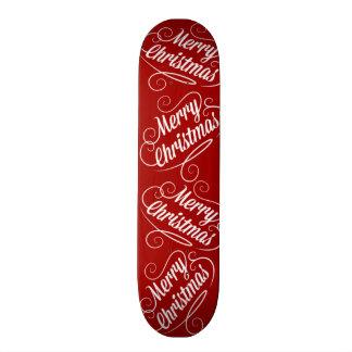 Merry Christmas Holiday Red Seasonal Design Custom Skate Board