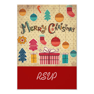 Merry Christmas Holiday RSVP Card