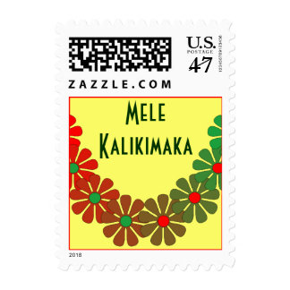 Merry Christmas Holiday Stamp Law Mele Kalikimaka