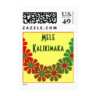Merry Christmas Holiday Stamp Law Mele Kalikimaka