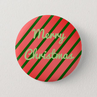 Merry Christmas Holiday Stripped Button