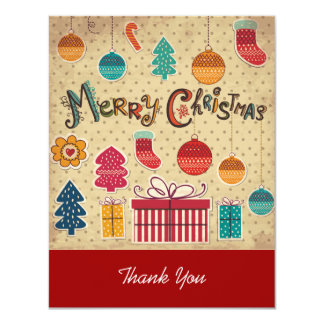Merry Christmas Holiday Thank You Card