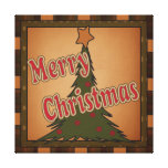 Merry Christmas Holiday Tree Canvas Canvas Print