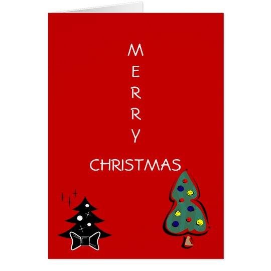 Merry Christmas Holiday Tree Card