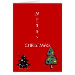 Merry Christmas Holiday Tree Greeting Card