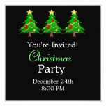 "Merry Christmas Holiday Tree Invitation 5.25"" Square Invitation Card"