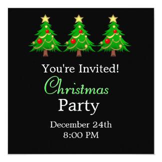 Merry Christmas Holiday Tree Invitation