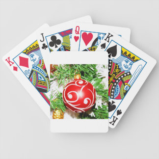 Merry Christmas  Holiday Tree Ornaments celebratio Bicycle Playing Cards