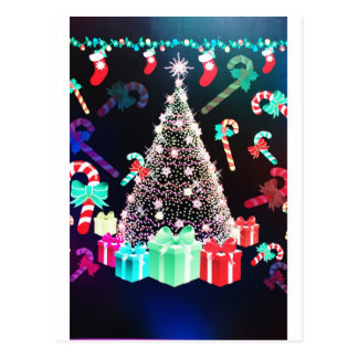Merry Christmas  Holiday Tree Ornaments celebratio Post Card