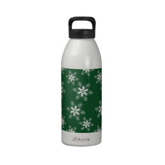 Merry Christmas Holiday Tree Ornaments celebratio Reusable Water Bottle