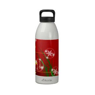 Merry Christmas Holiday Tree Ornaments celebratio Water Bottles