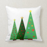 Merry Christmas holiday, trees designs Pillows