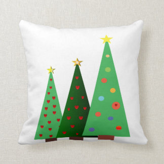Merry Christmas holiday, trees designs Throw Pillow