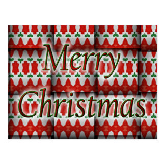 Merry Christmas Holiday Weave Postcard
