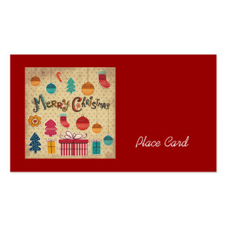 Merry Christmas Holiday Wedding Place Cards Double-Sided Standard Business Cards (Pack Of 100)