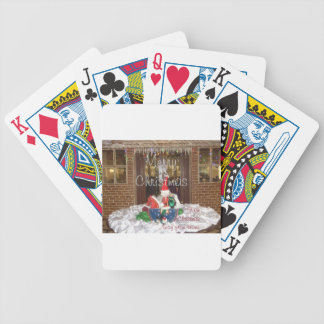 Merry Christmas holidays away from home Inspired A Bicycle Playing Cards