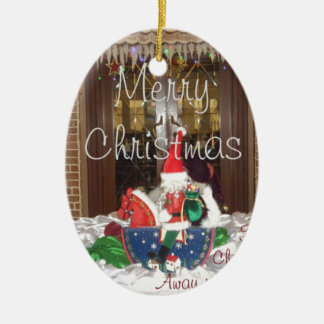 Merry Christmas holidays away from home Inspired A Ceramic Ornament