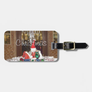 Merry Christmas holidays away from home Inspired A Luggage Tag