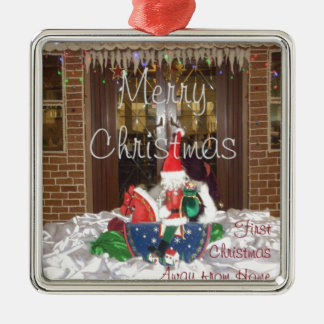 Merry Christmas holidays away from home Inspired A Metal Ornament