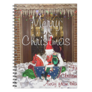 Merry Christmas holidays away from home Inspired A Notebook