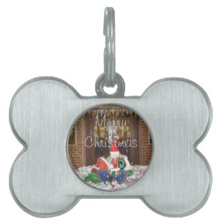 Merry Christmas holidays away from home Inspired A Pet ID Tag