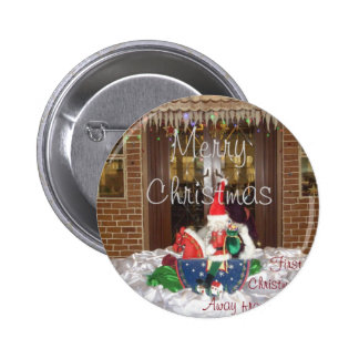 Merry Christmas holidays away from home Inspired A Pinback Button