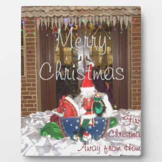 Merry Christmas holidays away from home Inspired A Plaque