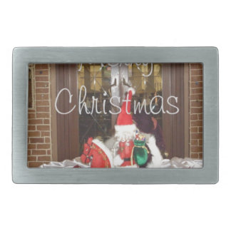Merry Christmas holidays away from home Inspired A Rectangular Belt Buckle