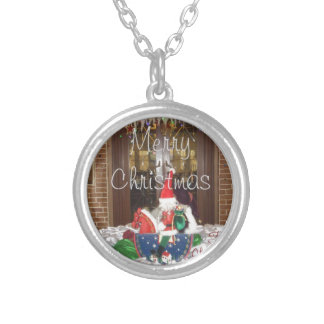 Merry Christmas holidays away from home Inspired A Silver Plated Necklace
