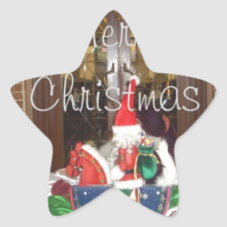 Merry Christmas holidays away from home Inspired A Star Sticker