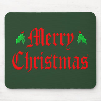 Merry Christmas - Hollies Mouse Pad